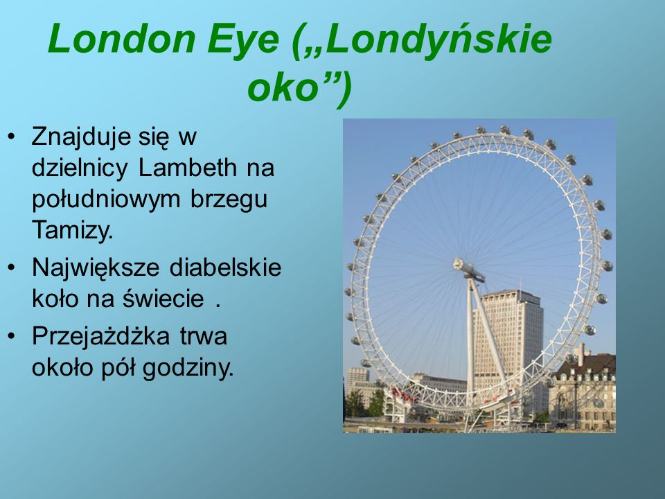 "London Eye (""Londyńskie oko )"