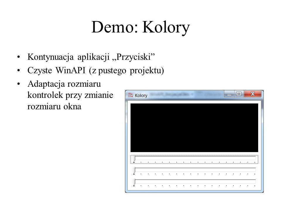 """Demo: Kolory Kontynuacja aplikacji """"Przyciski"""