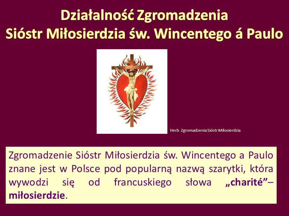 Działalność Zgromadzenia Sióstr Miłosierdzia św. Wincentego á Paulo