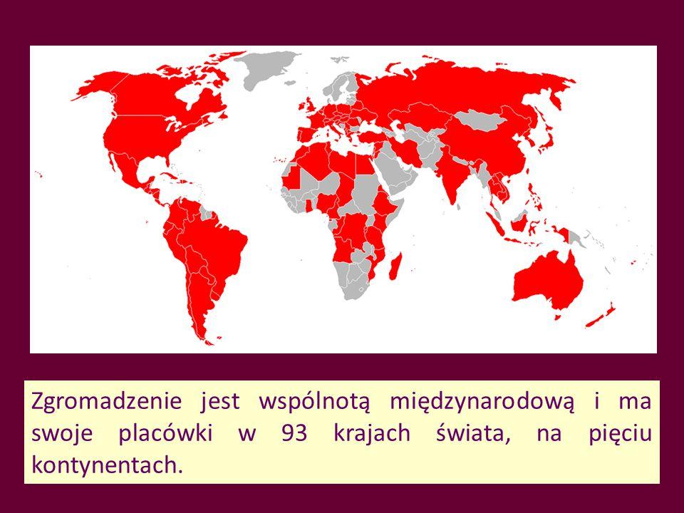Zgromadzenie jest wspólnotą międzynarodową i ma swoje placówki w 93 krajach świata, na pięciu kontynentach.