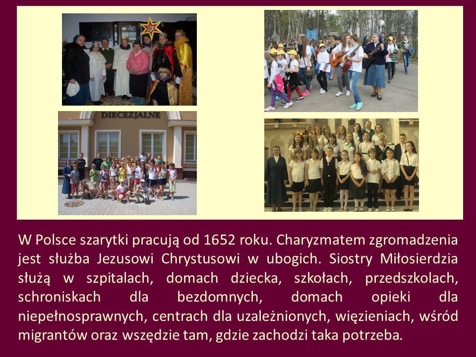 W Polsce szarytki pracują od 1652 roku