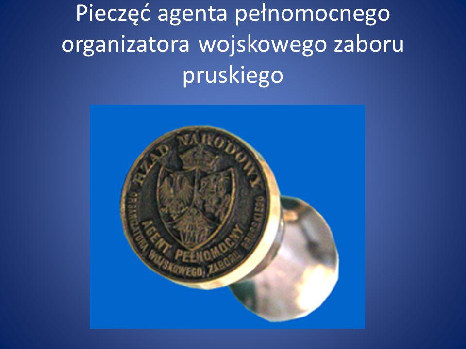 Pieczęć agenta pełnomocnego organizatora wojskowego zaboru pruskiego