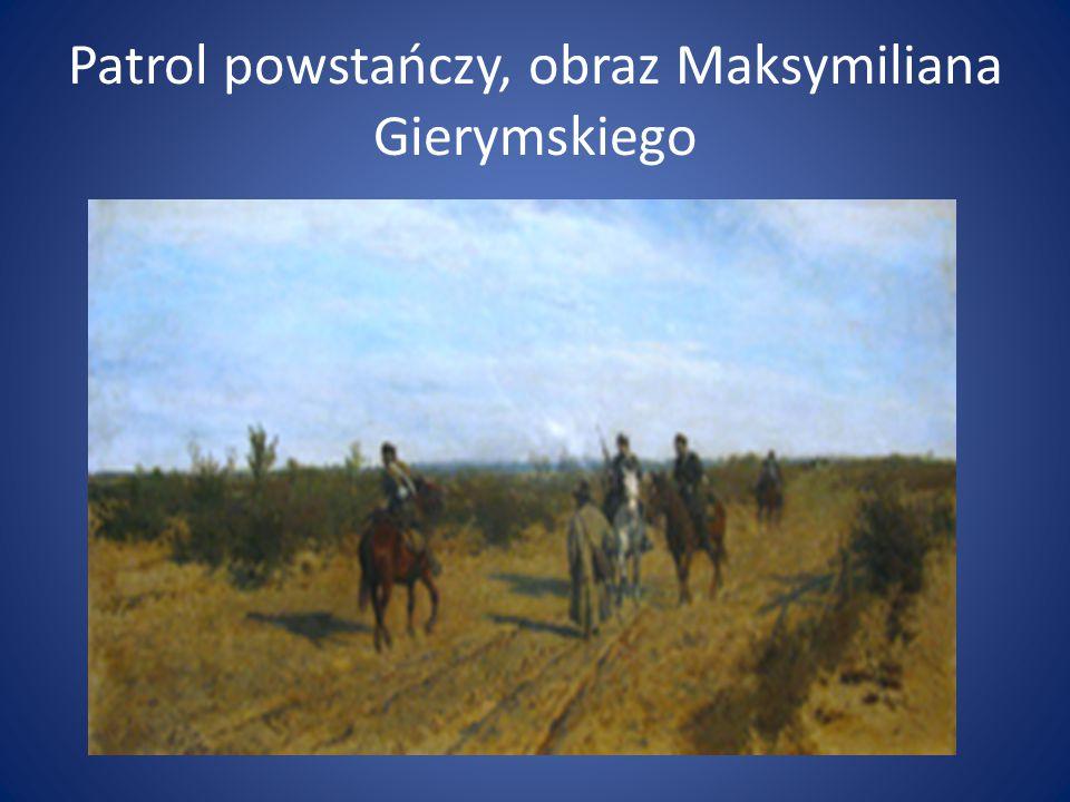 Patrol powstańczy, obraz Maksymiliana Gierymskiego