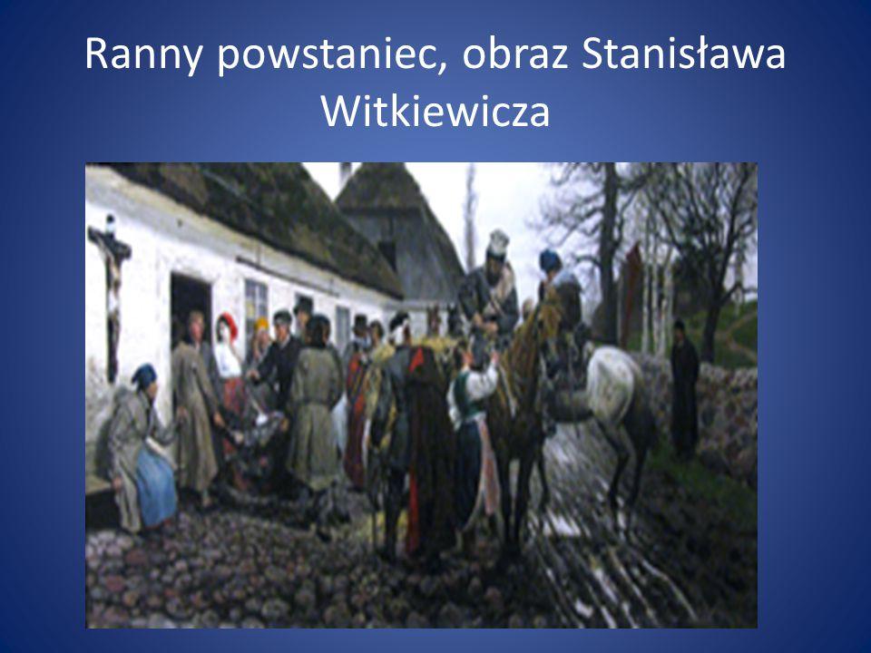 Ranny powstaniec, obraz Stanisława Witkiewicza