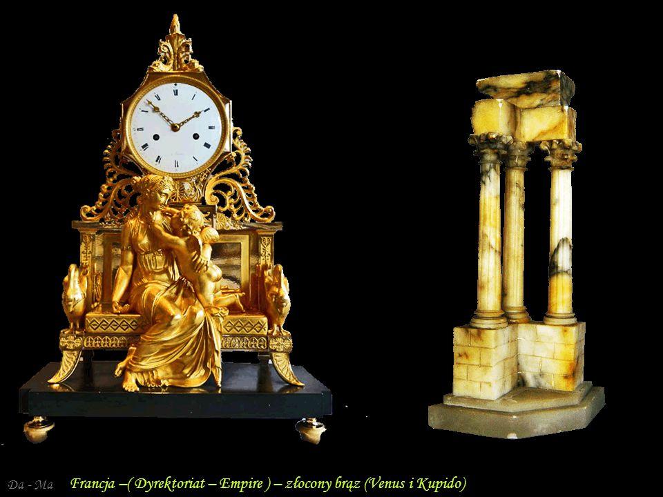 Francja –( Dyrektoriat – Empire ) – złocony brąz (Venus i Kupido)