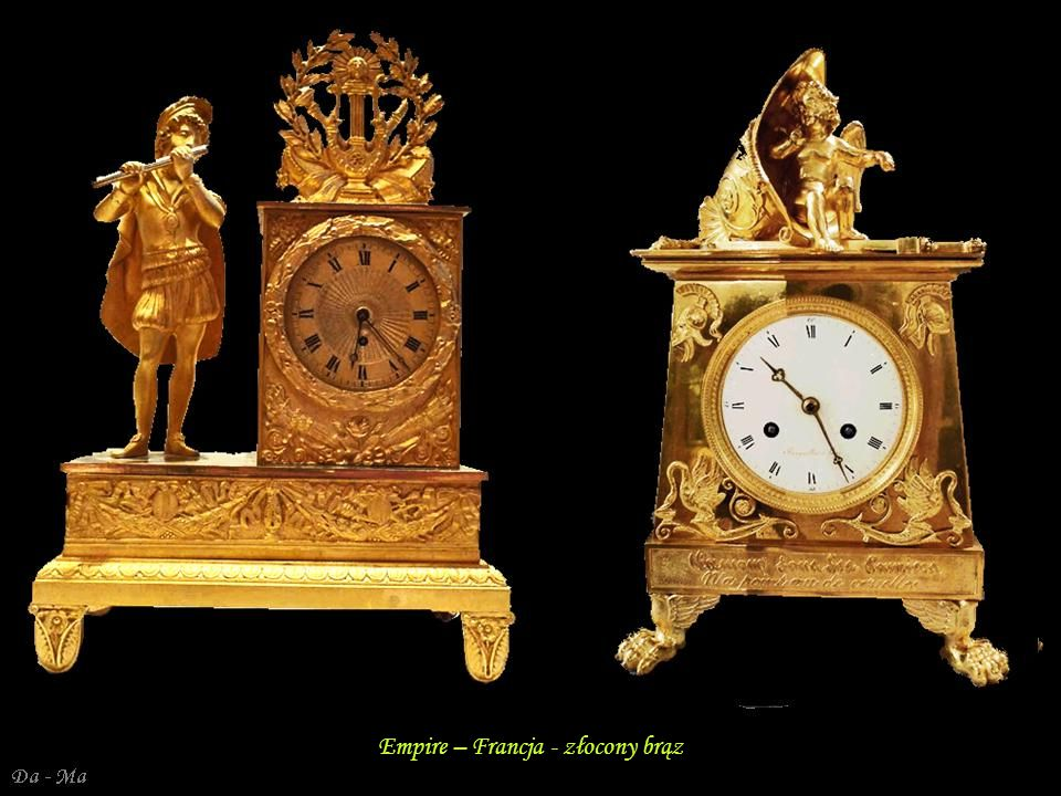 Empire – Francja - złocony brąz