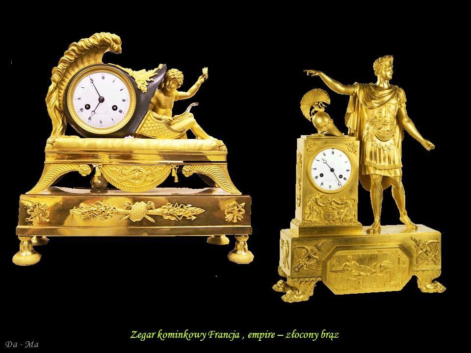 Zegar kominkowy – Empire - Karol X Francja – brąz pozłacany