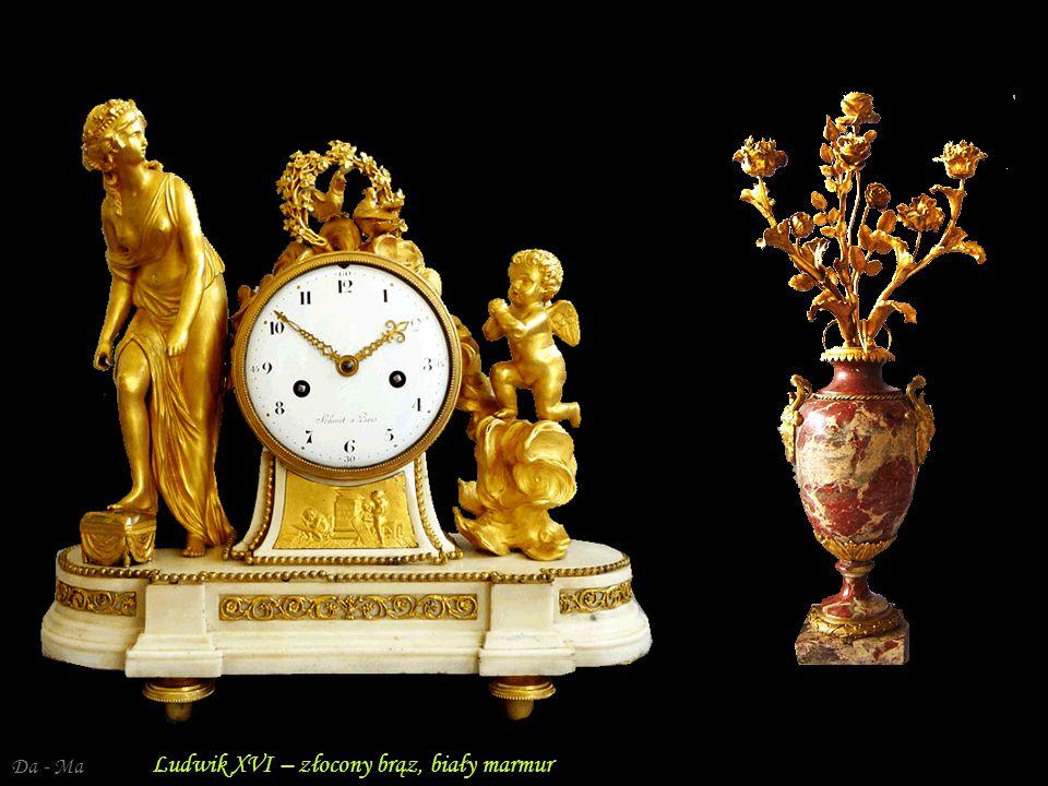 Ludwik XVI – złocony brąz, biały marmur