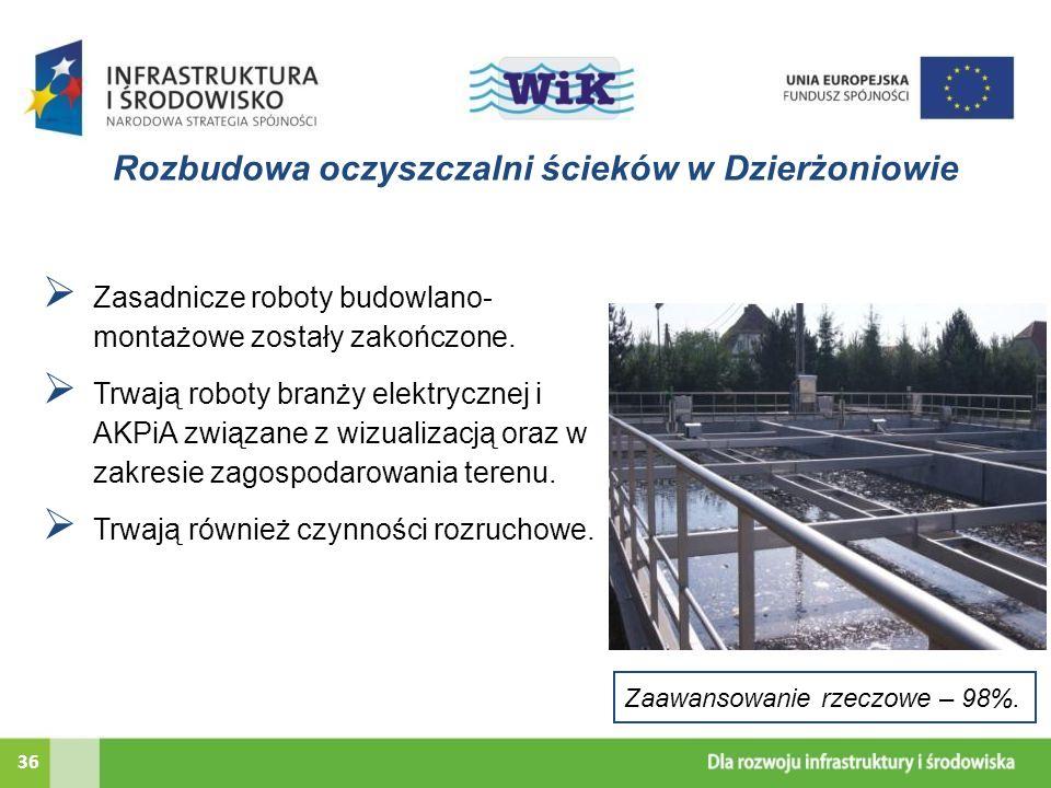 Rozbudowa oczyszczalni ścieków w Dzierżoniowie