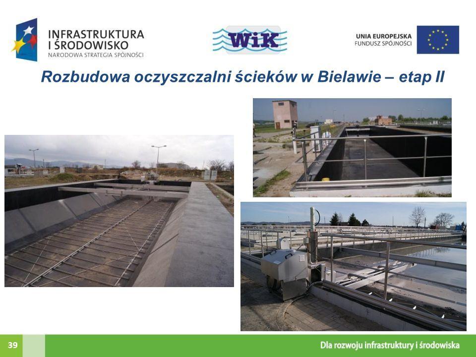 Rozbudowa oczyszczalni ścieków w Bielawie – etap II