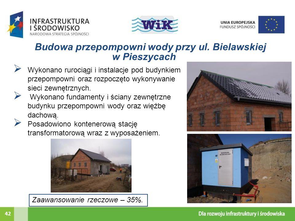 Budowa przepompowni wody przy ul. Bielawskiej
