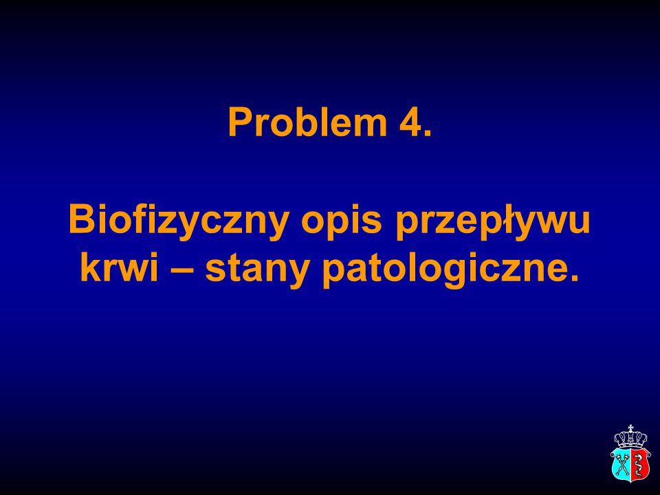 Problem 4. Biofizyczny opis przepływu krwi – stany patologiczne.