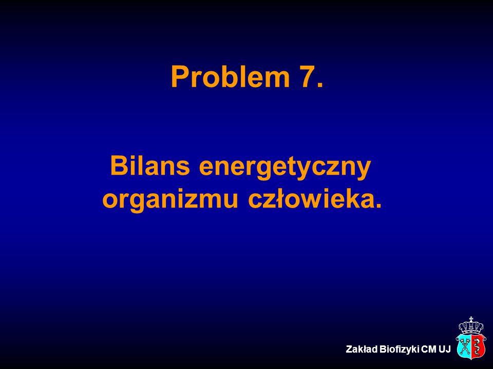 Bilans energetyczny organizmu człowieka.