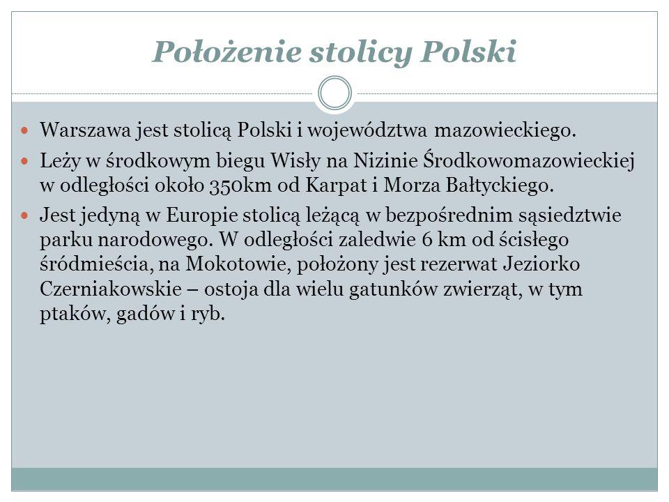 Położenie stolicy Polski