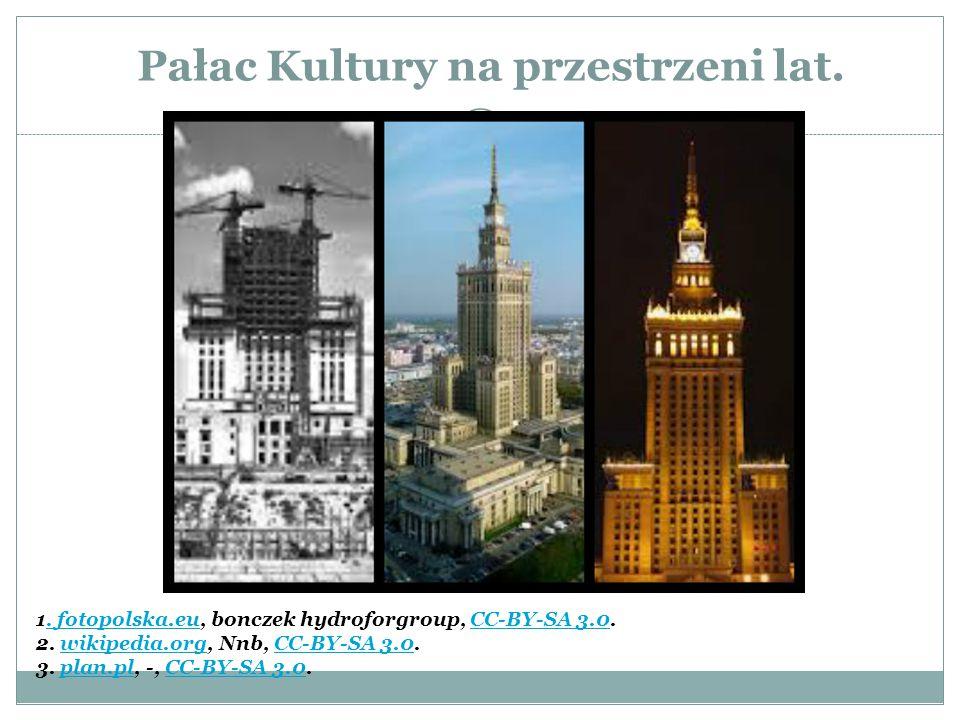 Pałac Kultury na przestrzeni lat.