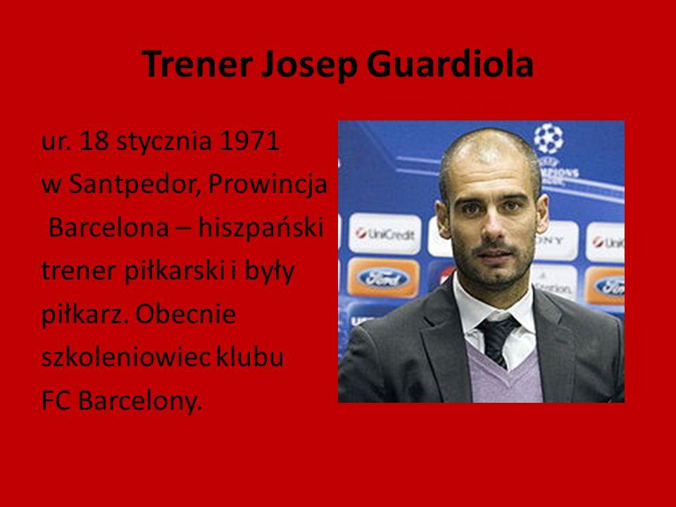 Trener Josep Guardiola
