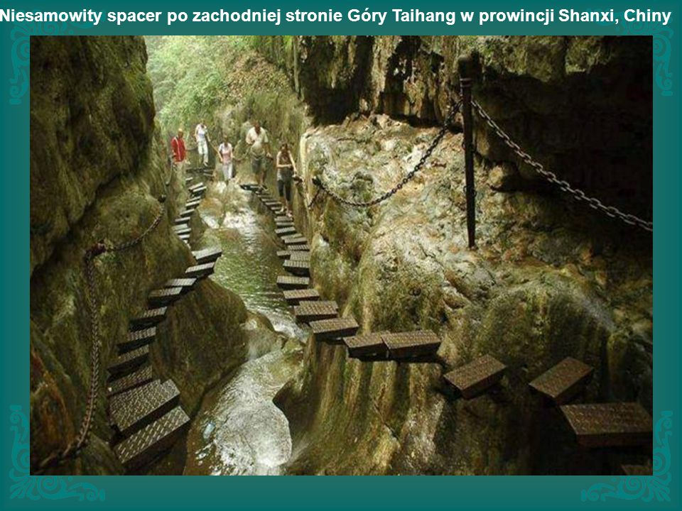 Niesamowity spacer po zachodniej stronie Góry Taihang w prowincji Shanxi, Chiny