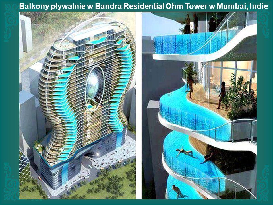 Balkony pływalnie w Bandra Residential Ohm Tower w Mumbai, Indie