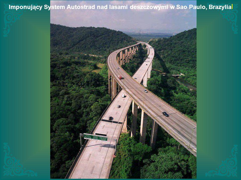 Imponujący System Autostrad nad lasami deszczowymi w Sao Paulo, Brazylial