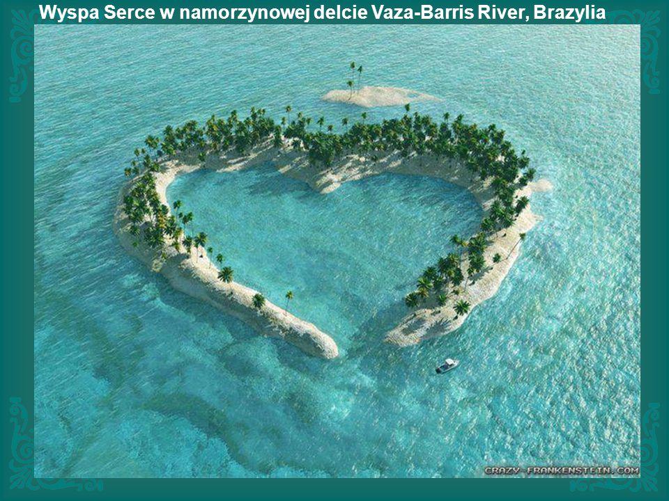 Wyspa Serce w namorzynowej delcie Vaza-Barris River, Brazylia