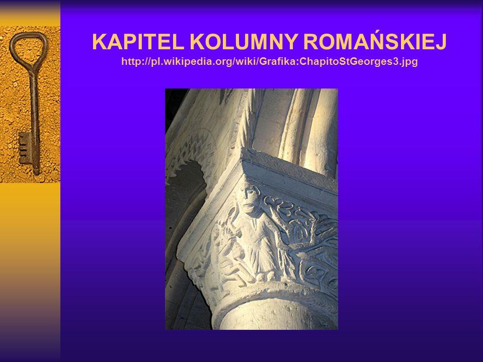 KAPITEL KOLUMNY ROMAŃSKIEJ http://pl. wikipedia