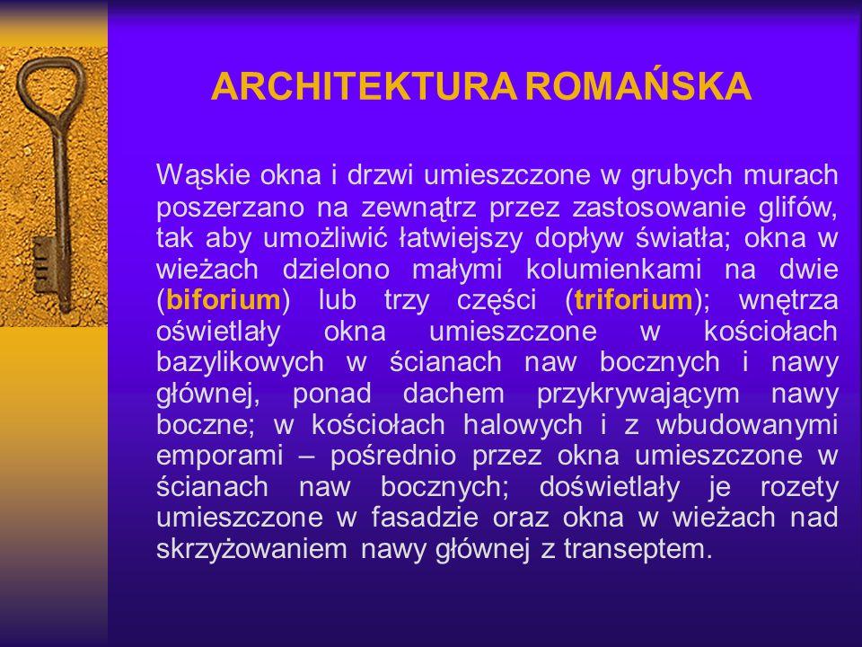 ARCHITEKTURA ROMAŃSKA