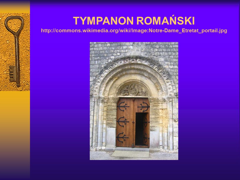 TYMPANON ROMAŃSKI http://commons. wikimedia