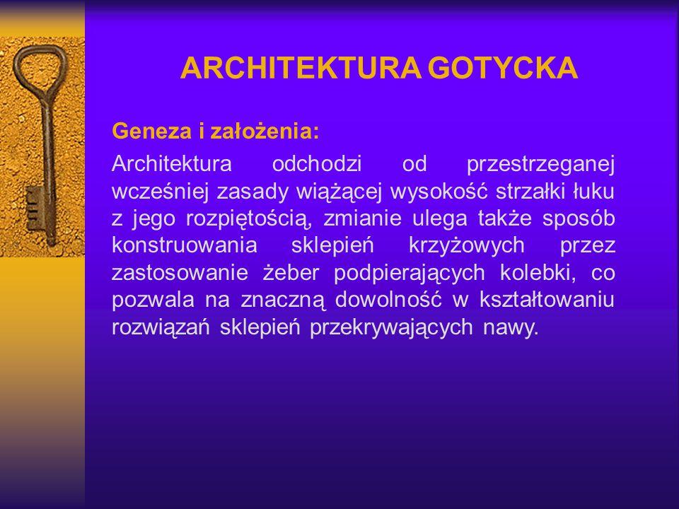 ARCHITEKTURA GOTYCKA Geneza i założenia: