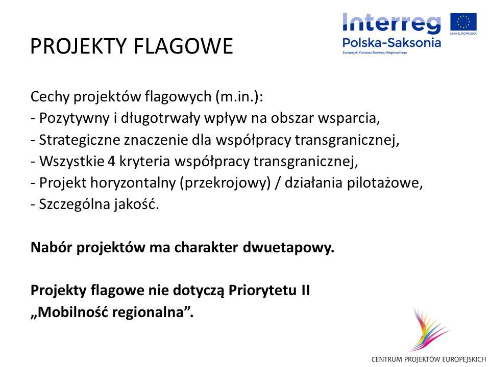 PROJEKTY FLAGOWE Cechy projektów flagowych (m.in.):