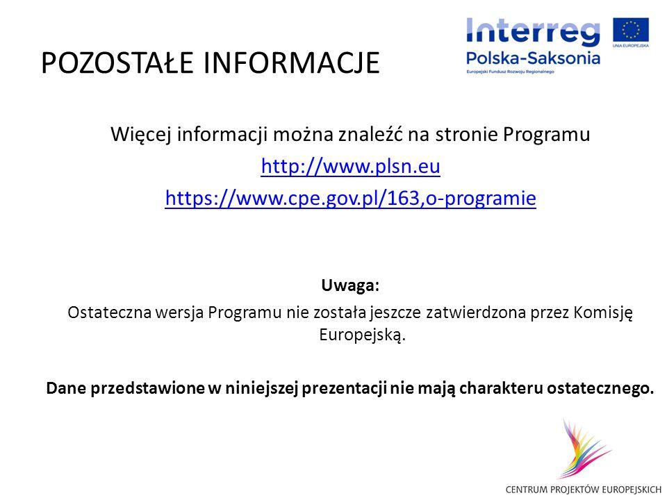 Więcej informacji można znaleźć na stronie Programu