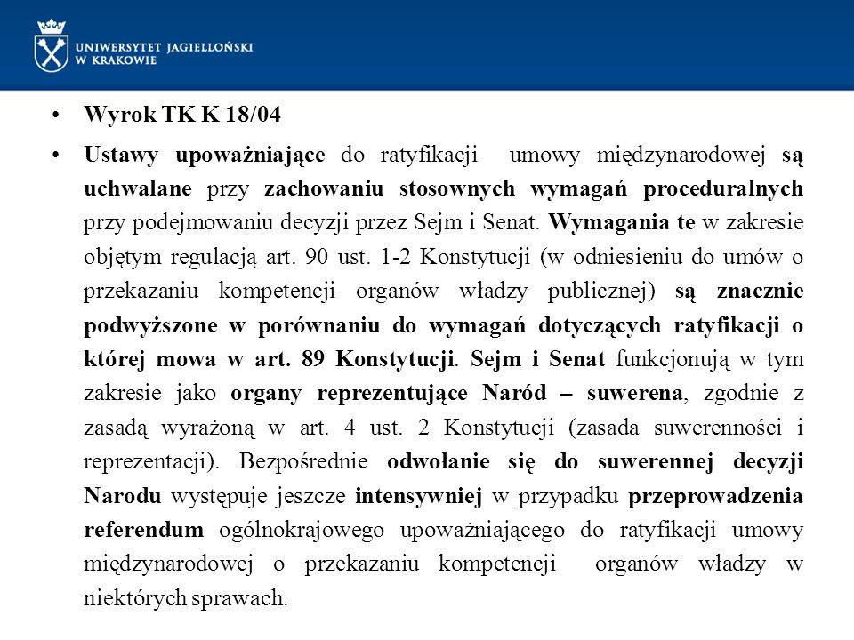 Wyrok TK K 18/04