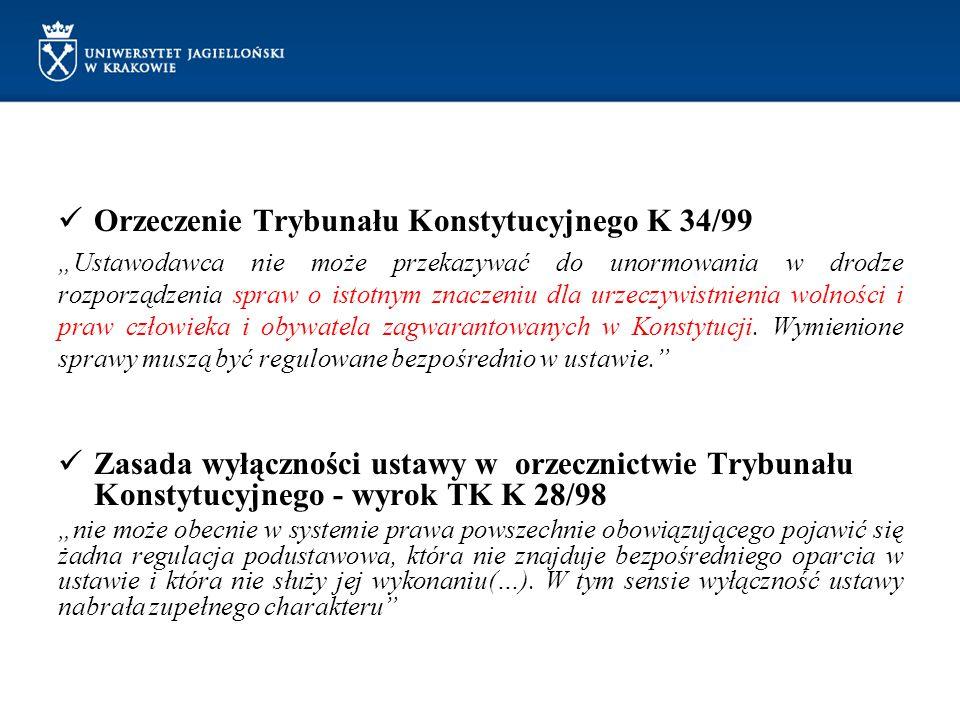 Orzeczenie Trybunału Konstytucyjnego K 34/99