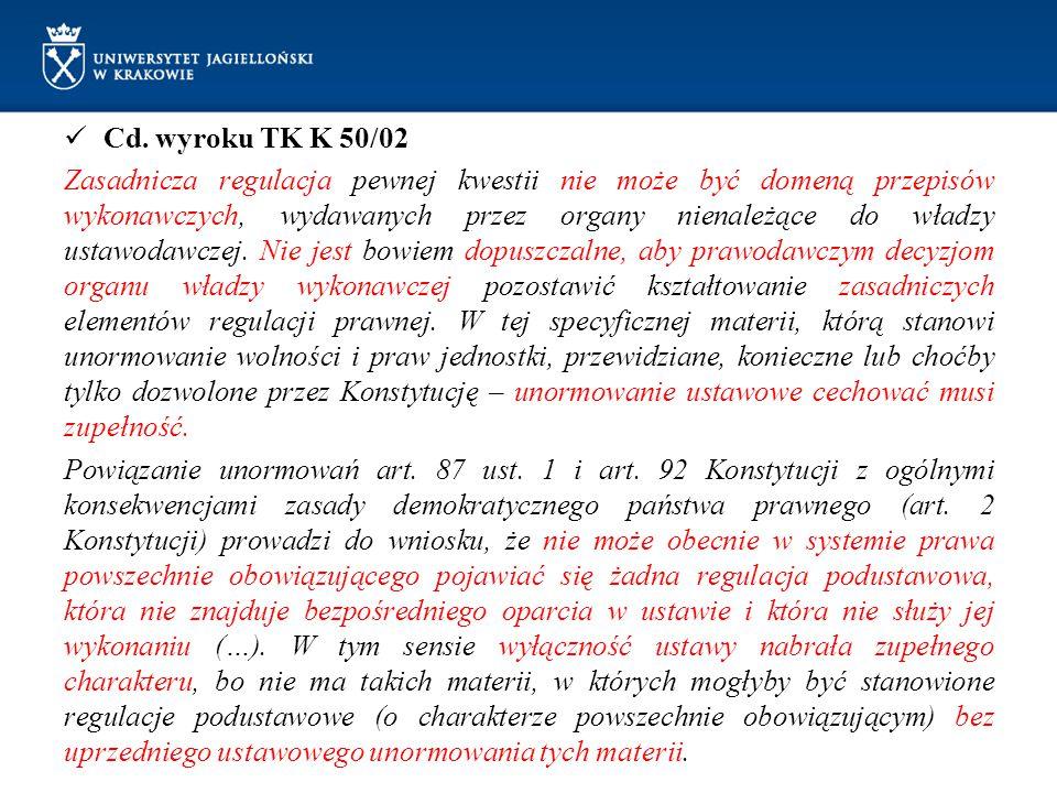 Cd. wyroku TK K 50/02