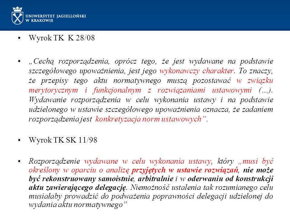 Wyrok TK K 28/08