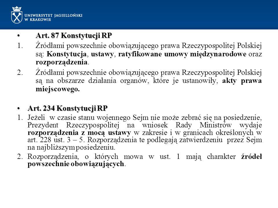 Art. 87 Konstytucji RP