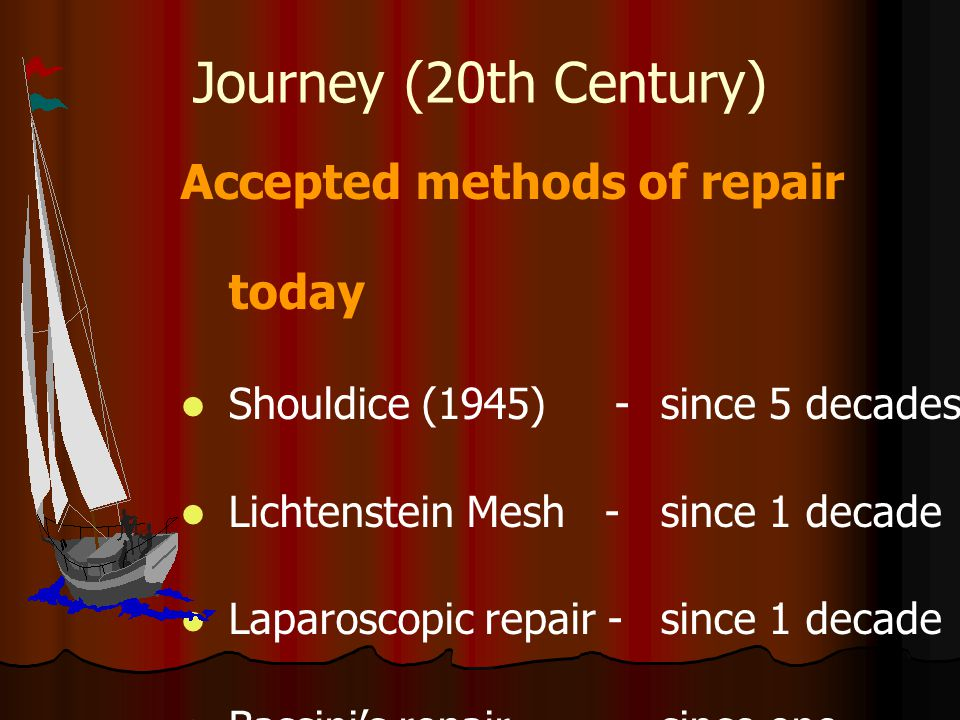 Journey (20th Century) Accepted methods of repair today