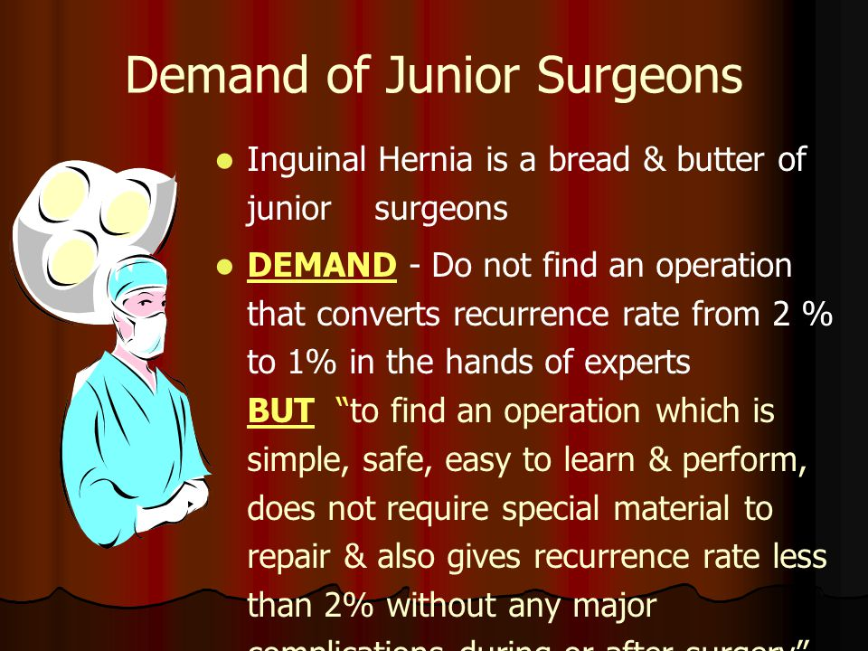 Demand of Junior Surgeons