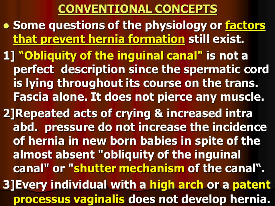 CONVENTIONAL CONCEPTS