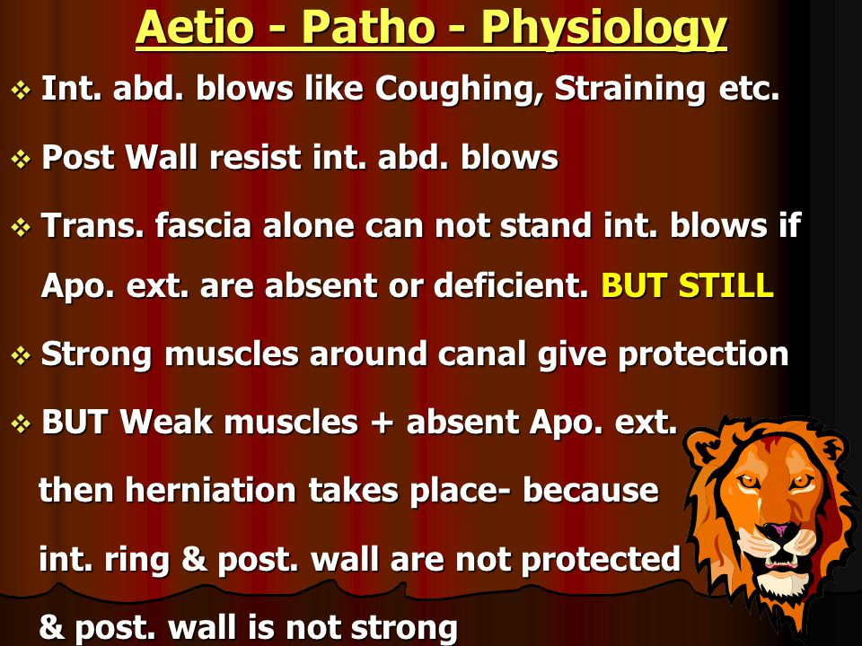 Aetio - Patho - Physiology