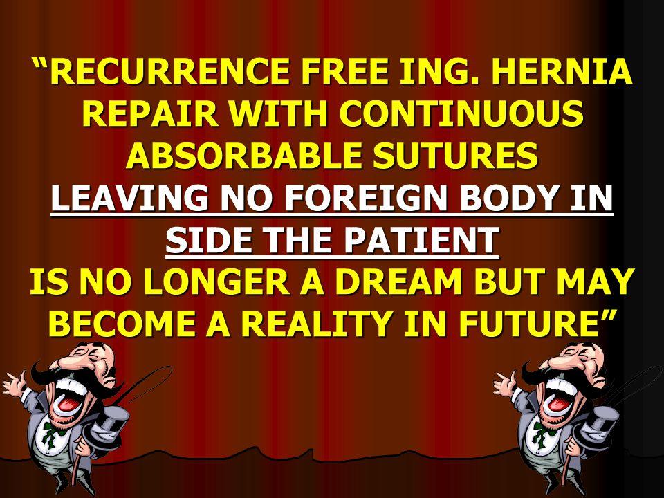 RECURRENCE FREE ING.
