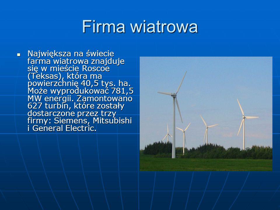Firma wiatrowa