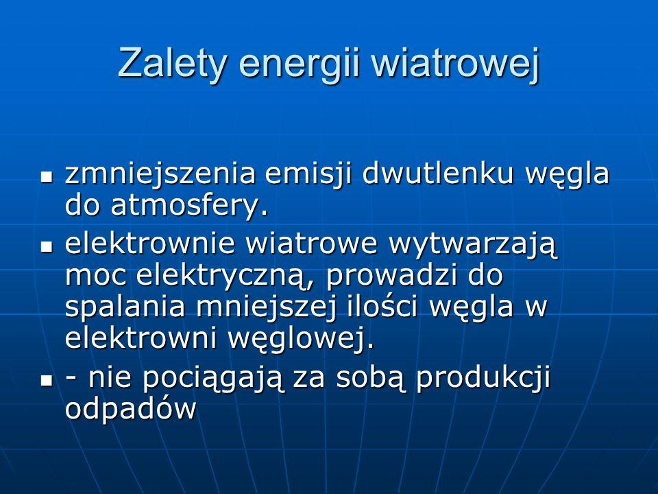 Zalety energii wiatrowej