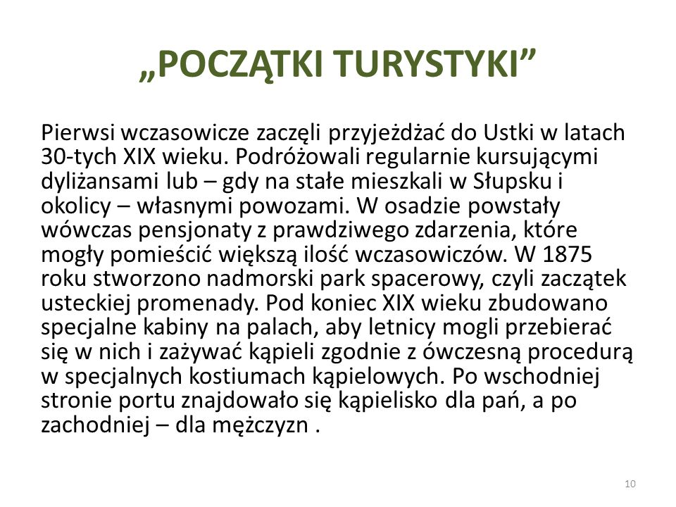 """POCZĄTKI TURYSTYKI"