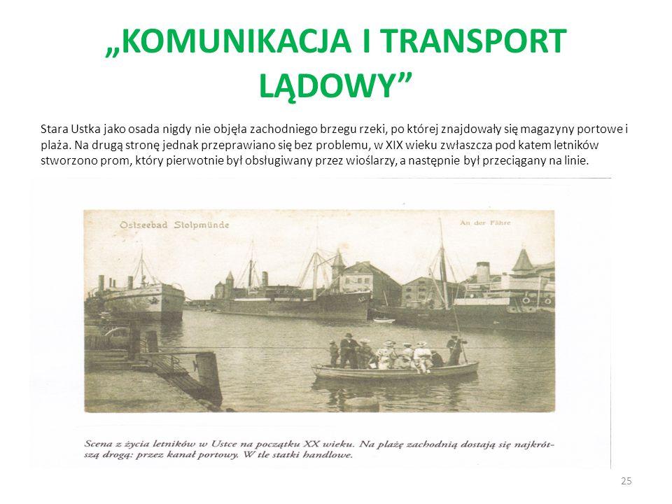 """""""KOMUNIKACJA I TRANSPORT LĄDOWY"""