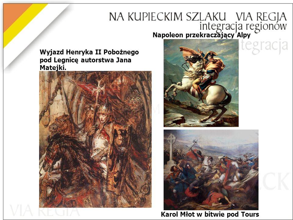 Napoleon przekraczający Alpy Karol Młot w bitwie pod Tours