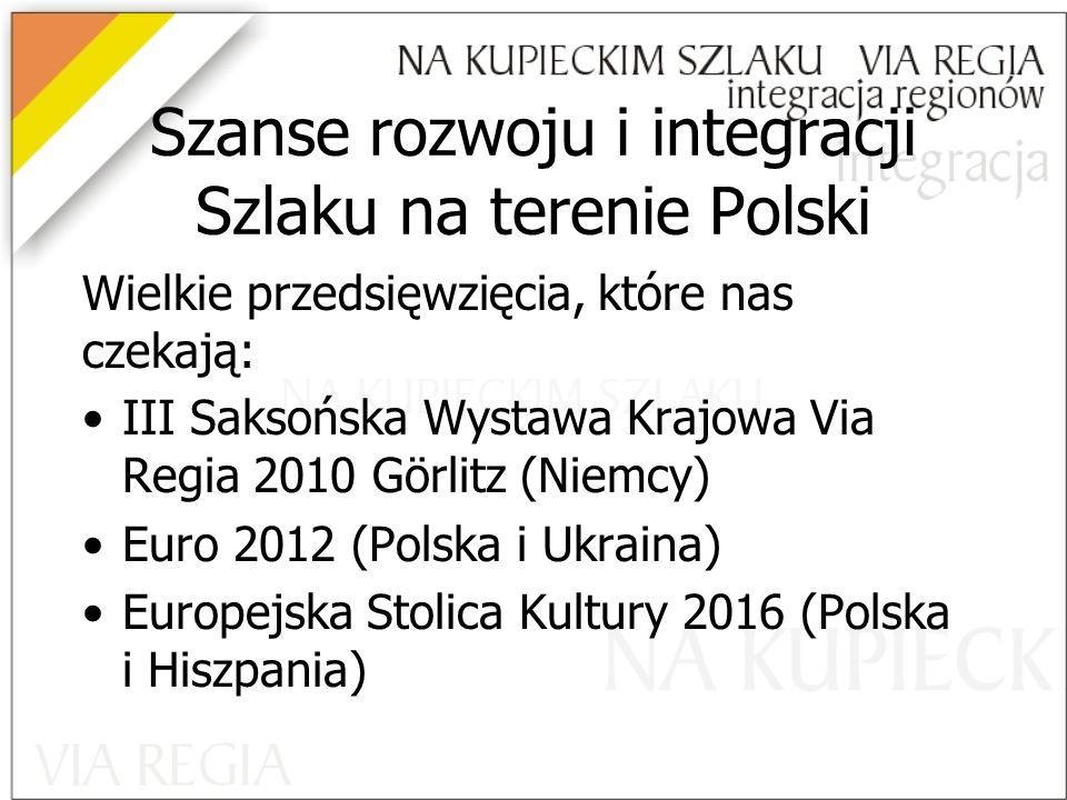 Szanse rozwoju i integracji Szlaku na terenie Polski