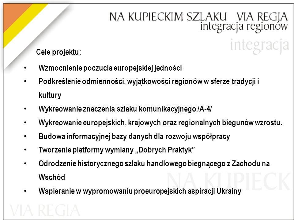 Cele projektu: Wzmocnienie poczucia europejskiej jedności. Podkreślenie odmienności, wyjątkowości regionów w sferze tradycji i kultury.