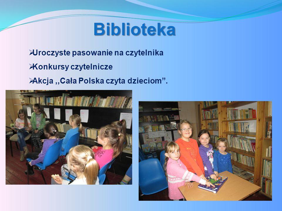 Biblioteka Uroczyste pasowanie na czytelnika Konkursy czytelnicze