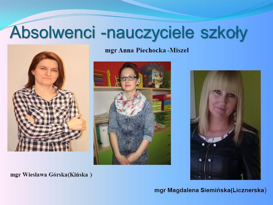 Absolwenci -nauczyciele szkoły
