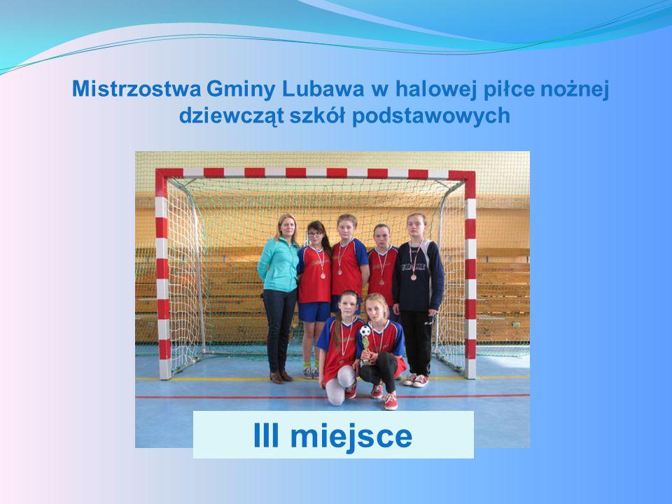 Mistrzostwa Gminy Lubawa w halowej piłce nożnej dziewcząt szkół podstawowych